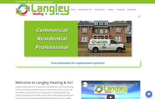 Langley Heating & Air website