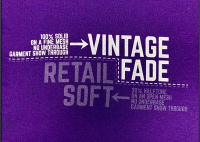 vintage fade screen printing process
