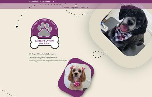 Creager's Critters Pet Salon website