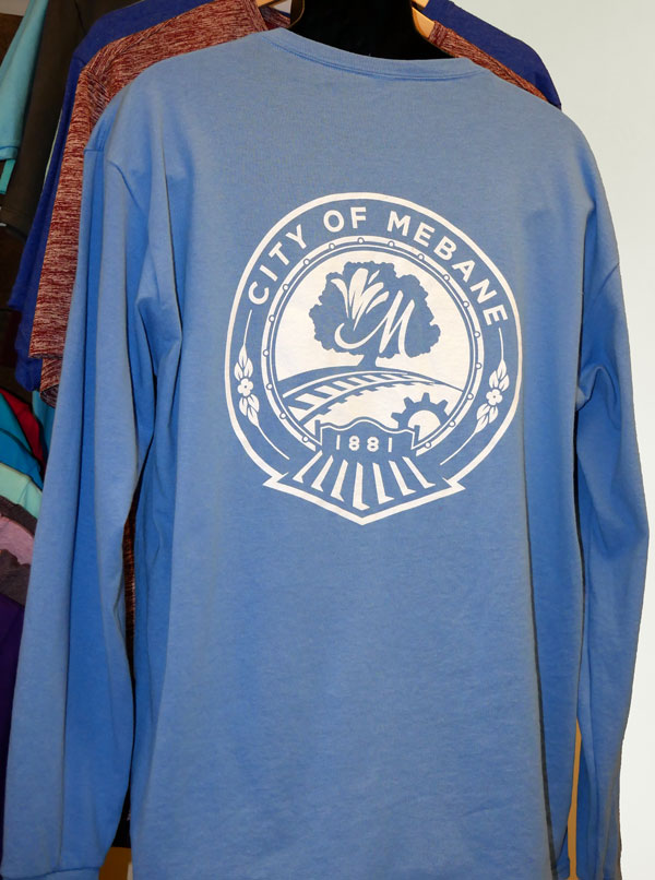 long-sleeve t-shirt with a screen printed design