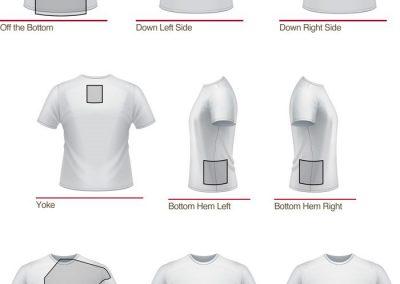 unique print locations on t-shirts