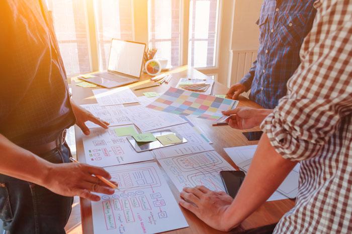 designers creating a website