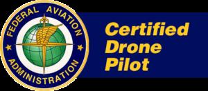 FAA certified drone pilot badge