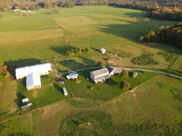 Barn and farm house at a horse farm near Mebane, NC