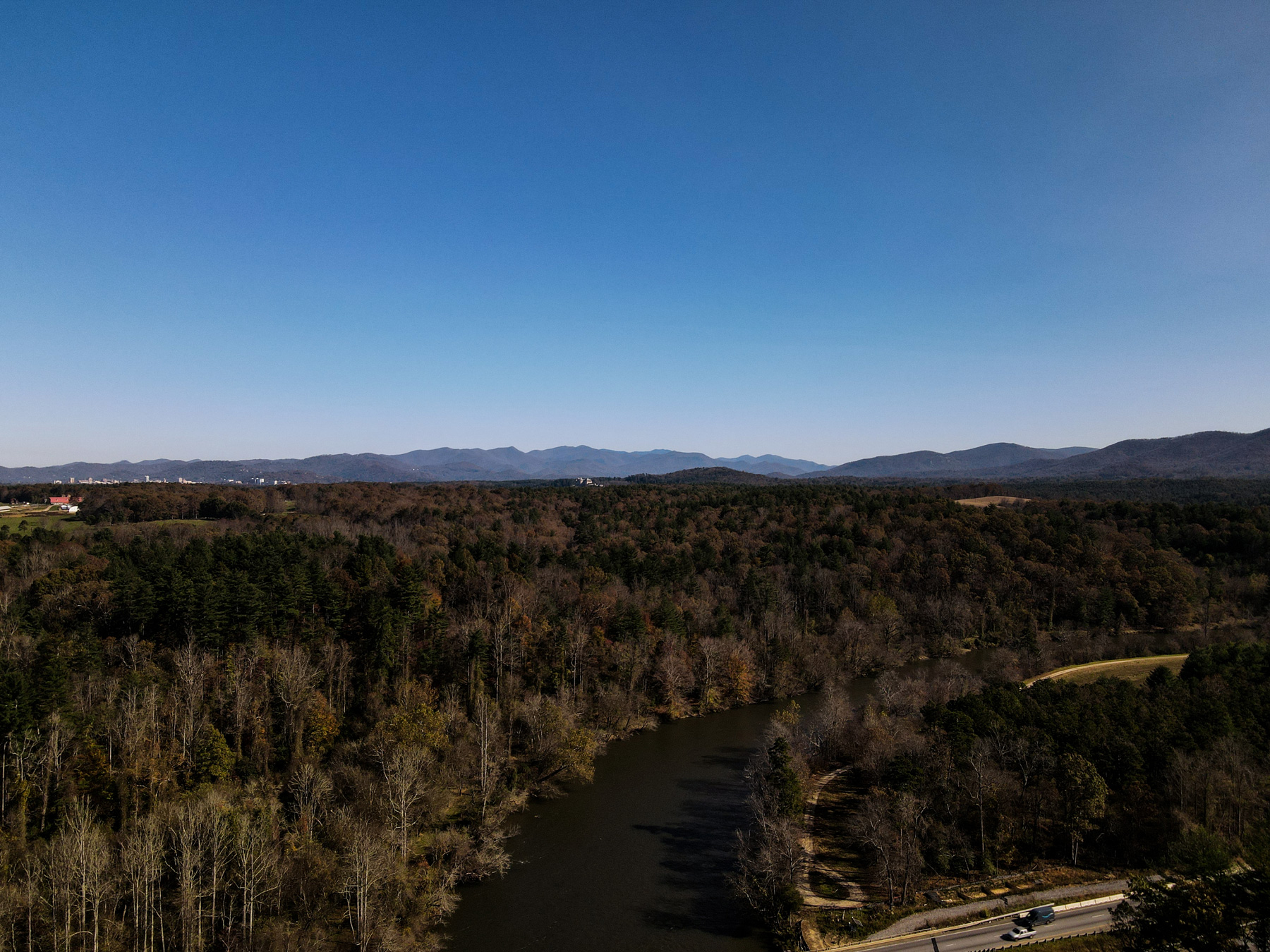 The French Broad River, Asheville, NC
